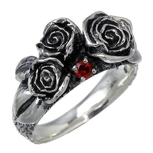 【バース】Birth リング 指輪 レディース シルバー ジュエリー Mガーネット ローズ 薔薇 925 スターリングシルバー Bi-RI-W-001