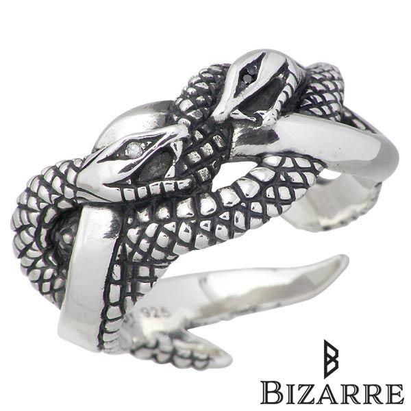 Bizarre【ビザール】リング 指輪 メンズ シルバー 嫉妬 ダイヤモンド ヘビ スネーク 12~22号 925 スターリングシルバー SRJ120