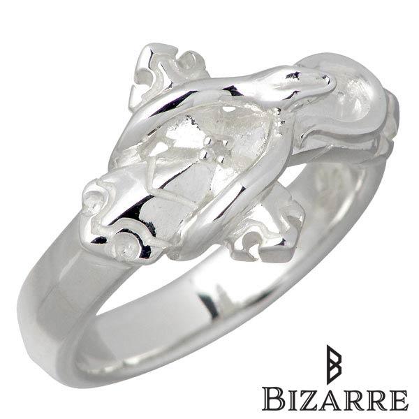 【ビザール】Bizarre リング 指輪 レディース スネーク シルバー ジュエリー ダイヤモンド クロス ヘビ4~14号 ピンキー925 スターリングシルバー SRJ124