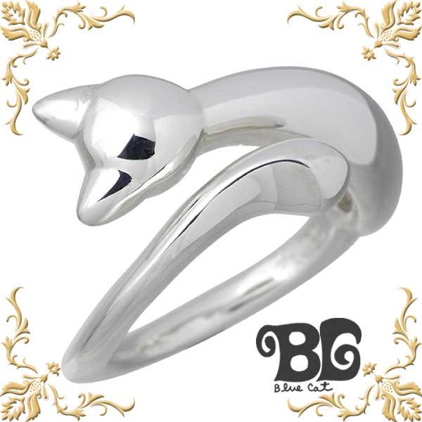 【ブルーキャット】Blue Cat リング 指輪 レディース ネコ シルバー ジュエリー 9~15号 猫 シルバーアクセサリー プレゼント 女性 925 スターリングシルバー SRV704-1134
