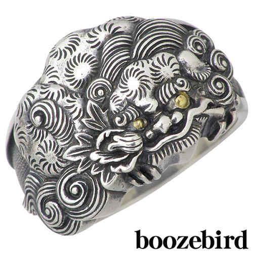 boozebird【ブーズバード】リング 指輪 メンズ シルバー 唐獅子 牡丹 K24 13~30号 925 スターリングシルバー bd002