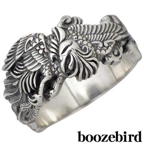送料無料 boozebird ブーズバード メンズ 訳あり シルバー リング 鳳凰 925 スターリングシルバー 指輪 11~30号 新作 ジュエリー bd003