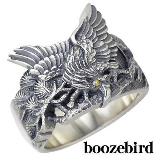 【ブーズバード】boozebird リング 指輪 メンズ シルバー ジュエリー 松 鷹 K24 13~30号 925 スターリングシルバー bd004