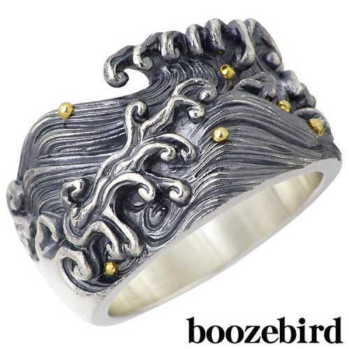 boozebird【ブーズバード】リング 指輪 メンズ シルバー 波濤 K24 15~30号 925 スターリングシルバー bd005