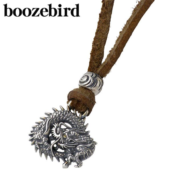 【ブーズバード】boozebird ネックレス レディース メンズ シルバー ジュエリー 輪龍 革紐付き K24 925 スターリングシルバー bd007-Neck