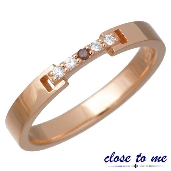【クロストゥーミー】close to me リング 指輪 レディース レッドダイヤモンド シルバー ジュエリー 7~13号 925 スターリングシルバー 刻印可能 SR14-019PG