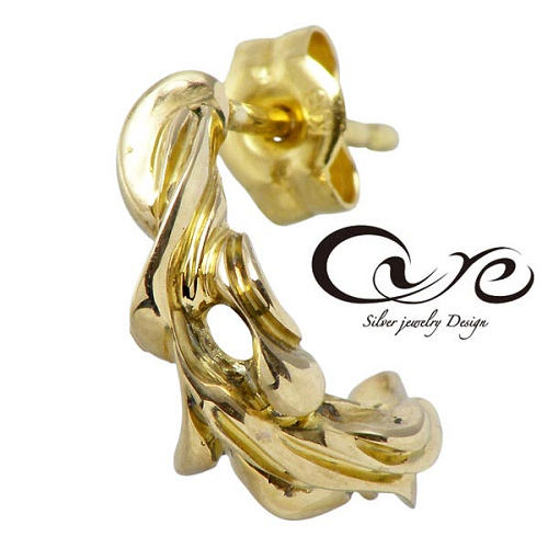 新しいエルメス キュア cure ピアス レディース メンズ ゴールド リリィー K10 スタッド 1個売り 片耳用 CU-KPI-013, ウサシ 86903e47