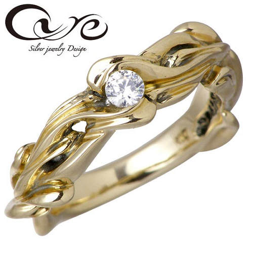 【キュア】cure リング 指輪 レディース ゴールド リィー K10 3~19号 ダイヤモンド CU-KRI-033