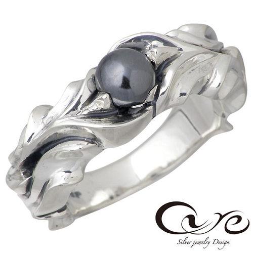 cure【キュア】リング 指輪 レディース シルバー ウィック へマタイト7~23号 925 スターリングシルバー CU-RI-040HE