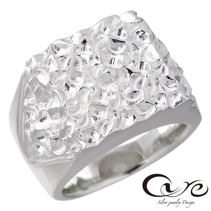【キュア】cure シルバー ジュエリー リング 指輪 カットエッジ L 指輪 メンズ 9~25号 CU-RI-056