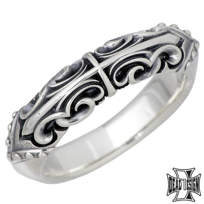 リング メンズ レディース DESIGN 【ディールデザイン】DEAL ジュエリー 1~23号 394223 マスカレードライン ピンキー シルバー 指輪