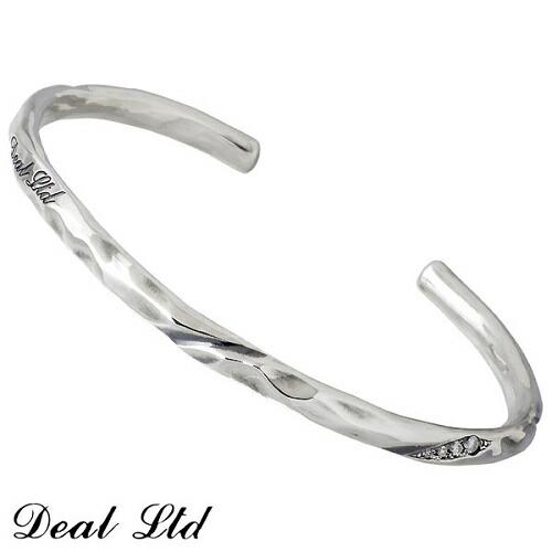 【ディールエルティーディー】DEAL LTD バングル メンズ シルバー ジュエリー ダイヤモンド ブレスレット 950 ブリタニアシルバー 310064
