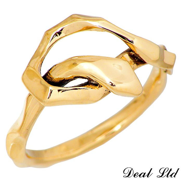 DEAL LTD【ディール エルティーディー】KNOT SNAKE RING SINGLE K10 ゴールド リング 指輪 5~23号 メンズ レディース スネーク 310229K10