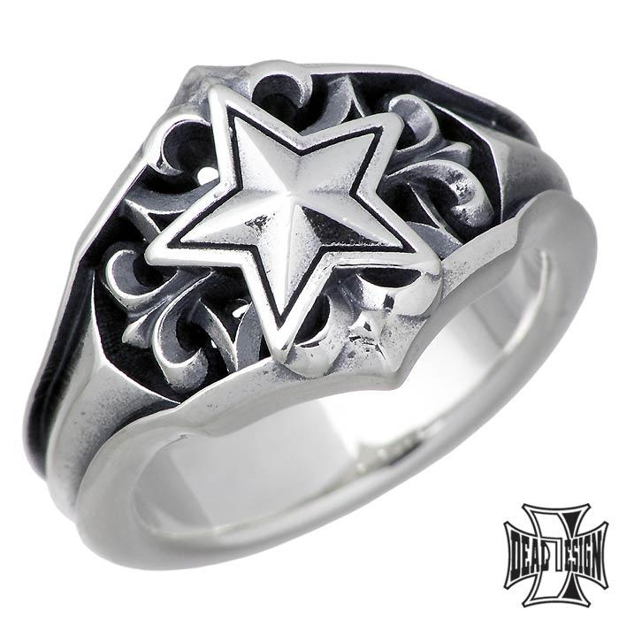 ディールデザイン DEAL DESIGN シルバー ジュエリー リング 指輪 ポインテッド スター メンズ レディース 5~23号 星 393259