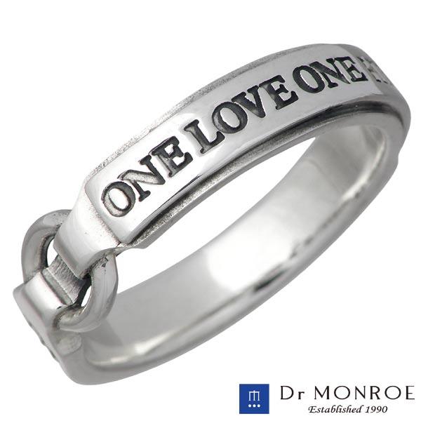 【ドクターモンロー】Dr MONROE リング 指輪 メンズ シルバー ジュエリー ラージタイプ メッセージ 13~23号 925 スターリングシルバー FC-202L-SV