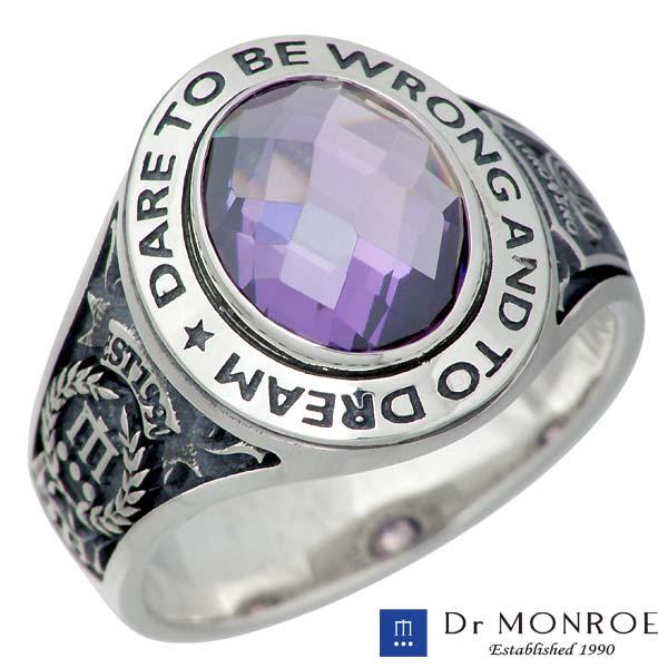 ドクターモンロー Dr MONROE リング 指輪 レディース メンズ シルバー ジュエリー カラーキュービック メッセージ 一粒 カレッジ7~23号 925 スターリングシルバー FC-215-SV