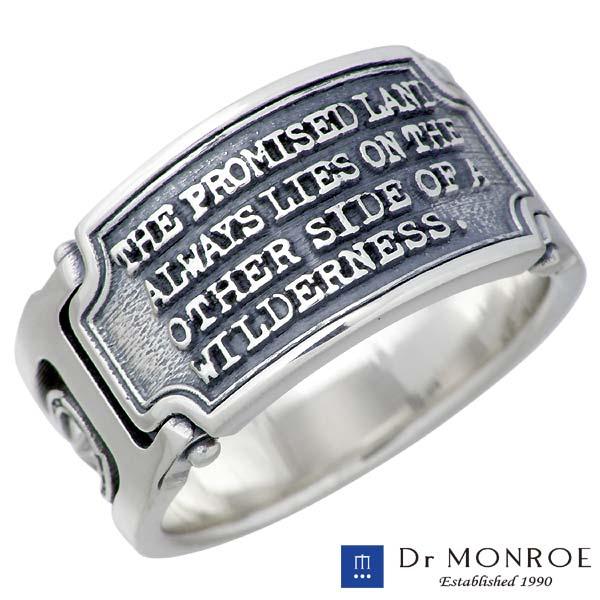 【ドクターモンロー】Dr MONROE リング 指輪 メンズ シルバー ジュエリー メッセージ 13~23号 925 スターリングシルバー FC-222-SV