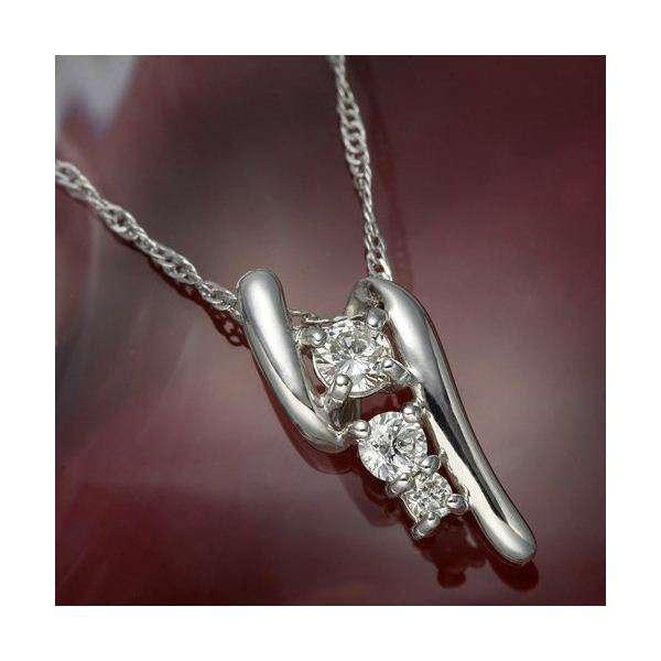 デザイン K18WG(ホワイトゴールド) ペンダント ネックレス ダイヤモンド