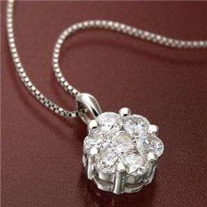 K18WG インビジブルセッティング ダイヤモンド ゴールド ペンダント ネックレス