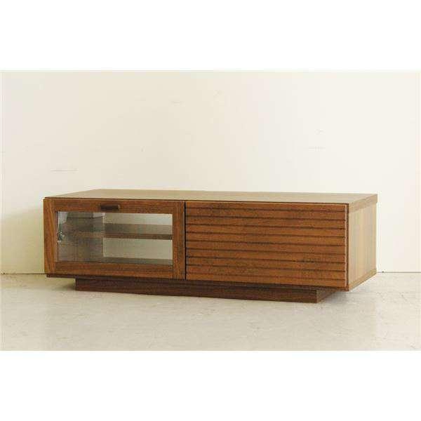 ローボード テレビ台 テレビボード 木製 幅100cm 引き出し収納 フラップ扉付き ブラウン 日本製 新生活 引越し 家具 メーカーより直送します ds-1629015