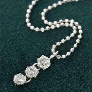 純プラチナ ジュエリー 0.25ct3ストーン ダイヤモンド ペンダント ネックレス