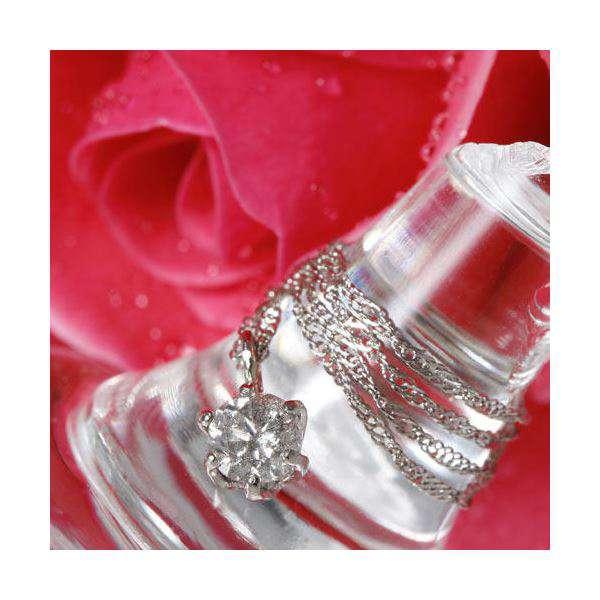 I1クラス0.2ctプラチナ ダイヤモンド ペンダント ネックレス