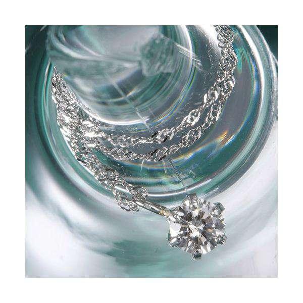 純プラチナ ジュエリー 0.2ct ダイヤモンド ペンダント ネックレス