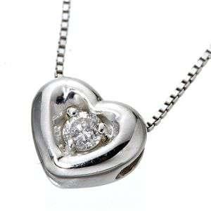 ハート ダイヤモンド ペンダント ホワイトゴールド ネックレス K10WG