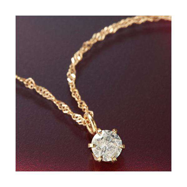 K18PG 0.1ct ダイヤモンド スクリューチェーン ネックレス ペンダント