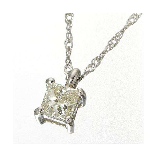 0.15ct ダイヤモンドプリンセスカット ペンダント ネックレス プラチナ
