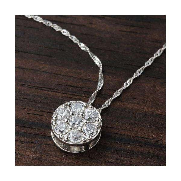 プラチナ ジュエリー Pt900 セブンストーン ダイヤモンド ペンダント ネックレス