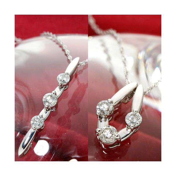K18 WG トリプル ダイヤモンド2WAY ネックレス ペンダント