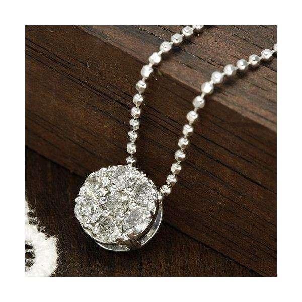 0.2ct ダイヤモンド 7ストーン シルバー ネックレス ペンダント