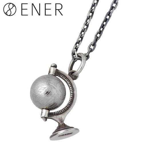 【エネル】ENER ネックレス レディース ギベオン隕石 メンズ シルバー ジュエリー グローブ GLOBE 925 スターリングシルバー ENER-KF-08
