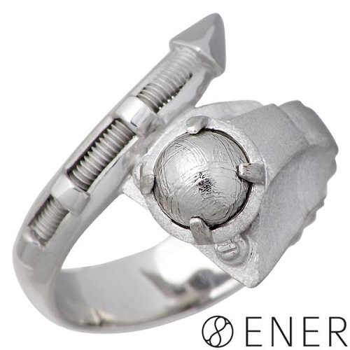 ENER【エネル】リング 指輪 メンズ シルバー SNIPER 狙撃 ギベオン隕石 15~25号 925 スターリングシルバー ENER-KF-12SV