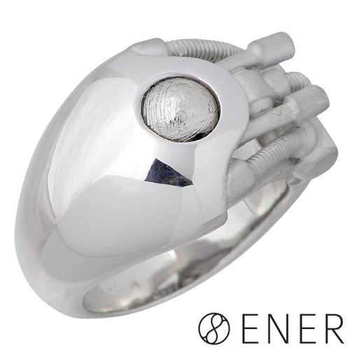 【エネル】ENER リング 指輪 メンズ シルバー ジュエリー ACCELERATION 加速 ギベオン隕石 15~25号 925 スターリングシルバー ENER-KF-14SV