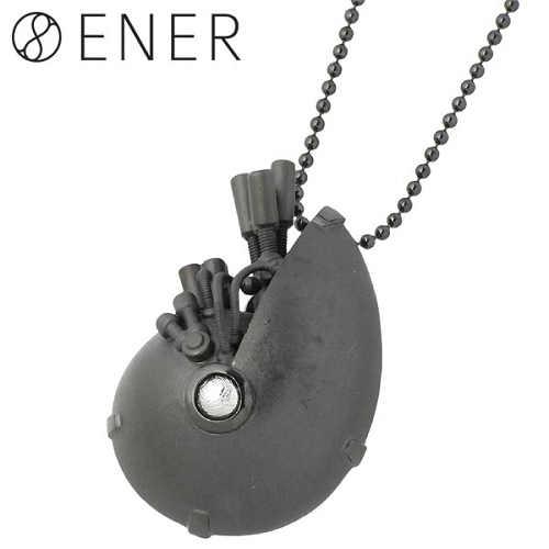 【エネル】ENER ネックレス レディース ギベオン隕石 メンズ シルバー ジュエリー ZEUS 天空神 ブラック 925 スターリングシルバー ENER-KF-22BK