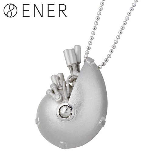 【エネル】ENER ネックレス レディース ギベオン隕石 メンズ シルバー ジュエリー ZEUS 天空神 925 スターリングシルバー ENER-KF-22SV