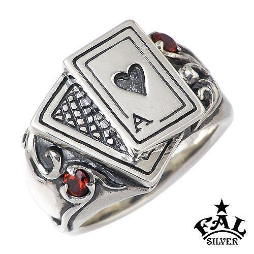 【エフエーエル】F.A.L FAL リング 指輪 レディース ハート メンズ シルバー ジュエリー カード 指輪【楽ギフ_名入れ】 925 スターリングシルバー FA-R-0072