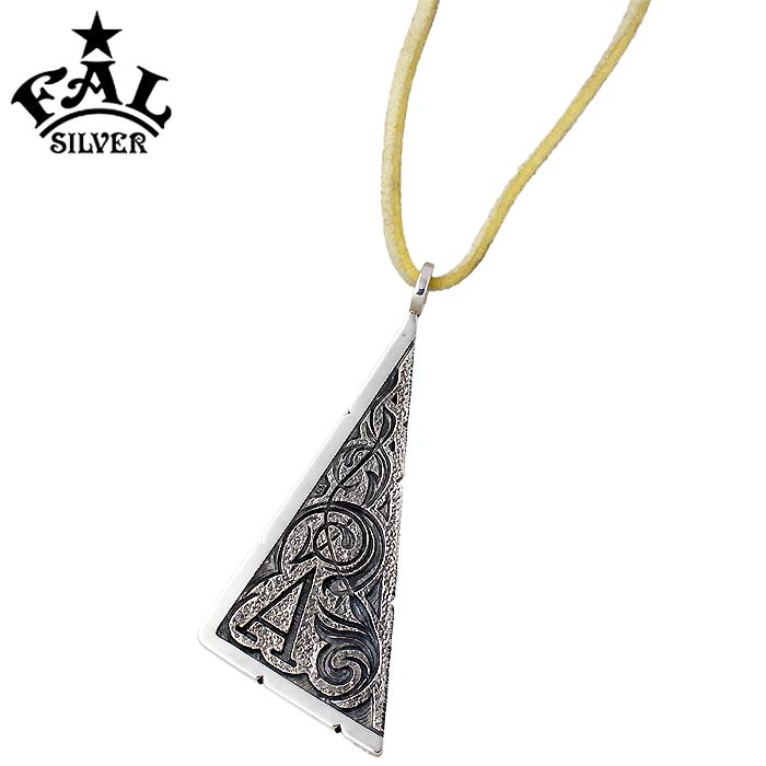 1d57455eb9c Triangle Pendant Necklace In Sterling Silver デグス サル. Degs Sal Skull Pendant  Necklace