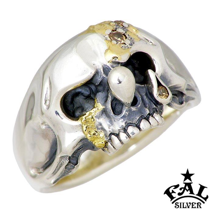 【エフエーエル】F.A.L FAL ゴールデンティアーズ ドロップアウト シルバー ジュエリー リング 指輪 メンズ 1~30号 スカル FA-R-0126