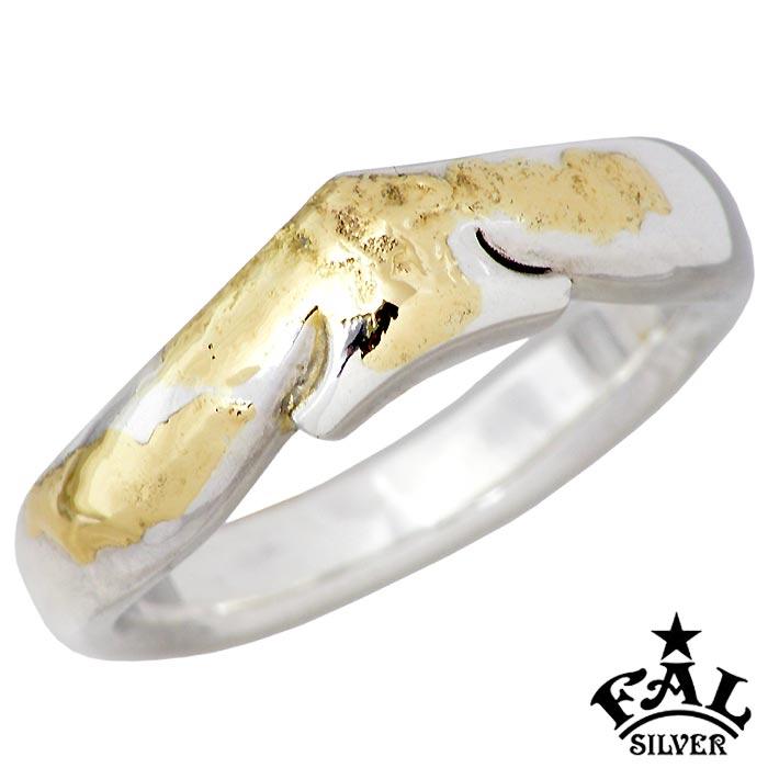【エフエーエル】F.A.L FAL K18 メルティング シンプリズム スペード シルバー ジュエリー リング 指輪 メンズ 1~30号 FA-R-0127