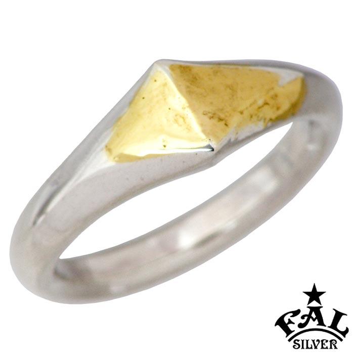 【エフエーエル】F.A.L FAL K18 メルティング シンプリズム ダイヤ シルバー ジュエリー リング 指輪 メンズ 1~30号 FA-R-0129