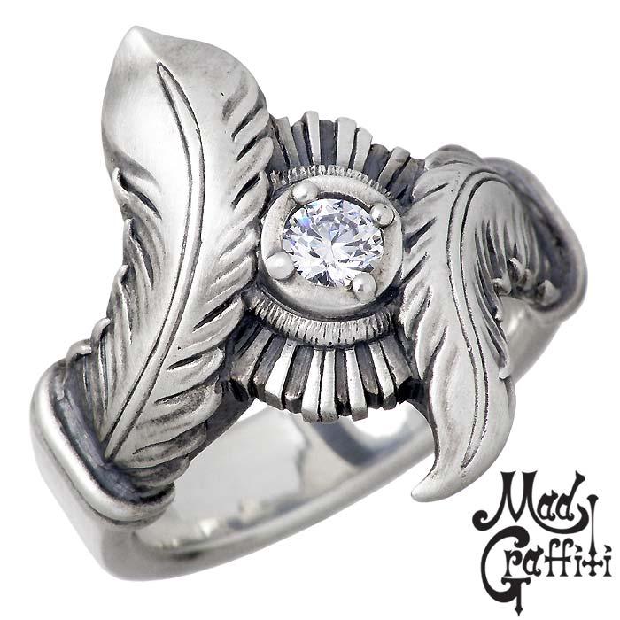 【マッドグラフィティ】Mad Graffiti シルバー ジュエリー リング 指輪 フラグメント M CZクリア 9号~30号 MG-R-0016-CZC