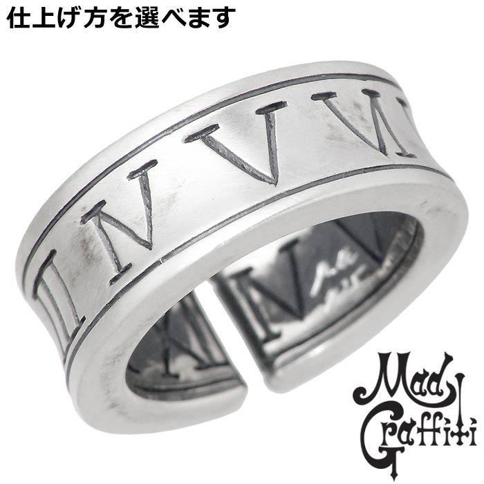 【マッドグラフィティ】Mad Graffiti シルバー ジュエリー リング 指輪 メンズ レディース アブソリュート アラウンド M 3号~9号 ピンキーリング 小指用 MG-R-0028B