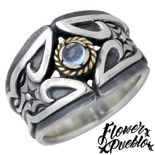 【フラワープエブロ】Flower Pueblo リング 指輪 レディース シルバー ジュエリー ブリリアント 925 スターリングシルバーfp-100BTP