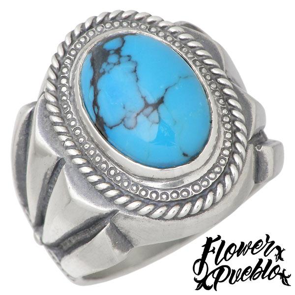 【フラワープエブロ】Flower Pueblo リング 指輪 レディース ターコイズ シルバー ジュエリー サンタフェ 925 スターリングシルバーfp-119TQ