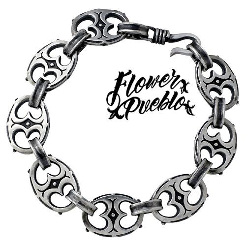 【フラワープエブロ】Flower Pueblo ブレスレット メンズ シルバー ジュエリー 天竺 925 スターリングシルバーfp-59