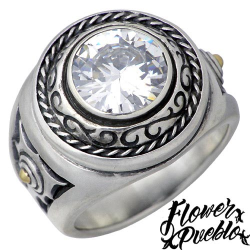 【フラワープエブロ】Flower Pueblo リング 指輪 レディース シルバー ジュエリー 世界の息吹 925 スターリングシルバーfp-73CZ