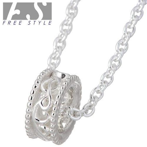 【フリースタイル】FREE STYLE ネックレス レディース シルバー ジュエリー リング型 アラベスク チェーン付き 925 スターリングシルバー FSP-893W-CL50